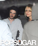 Sienna Miller and Tom Sturridge caught a ride.