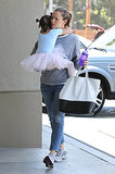 Jennifer Garner carried Seraphina Affleck after a ballet class on Monday.