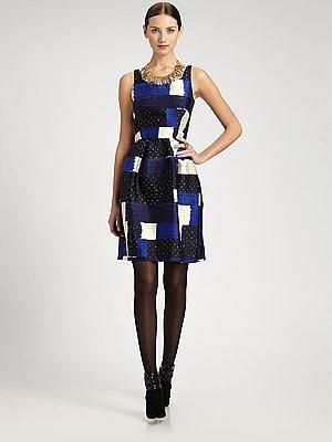 Oscar de la Renta Printed Dress