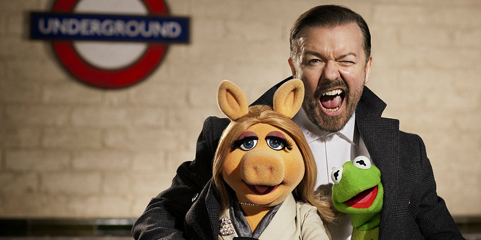 Watch Tina Fey, Ty Burrell, and Ricky Gervais in the Muppets Most Wanted Teaser