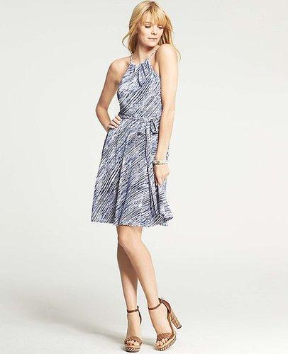 Petite Painted Stripes Halter Dress