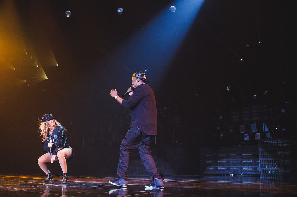 Beyoncé Knowles's husband, Jay Z, joined her on stage during her Brooklyn show. Source: Tumblr user Iambeyonce