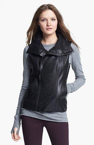 Echo Faux Leather Front Zip Vest Womens Black Small/Medium Small/Medium