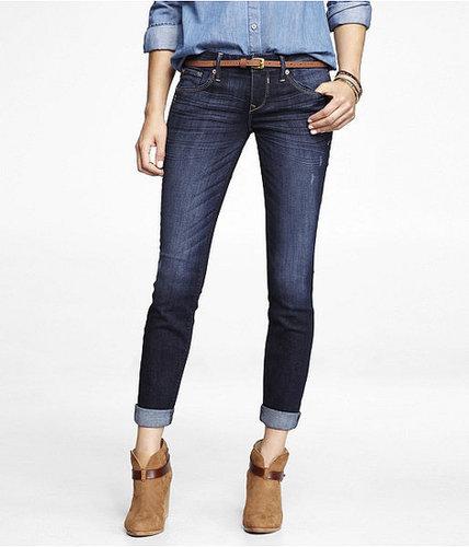 Rolled Ankle Skinny Leg Jean