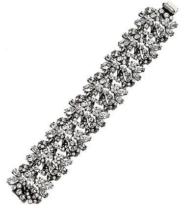 Ben Amun Large Crystal Floral Bracelet