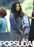 Jenna Dewan continued working on The Witches of East End on Tuesday in Vancouver, Canada.