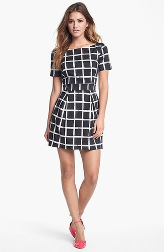 French Connection Print Fit & Flare Dress