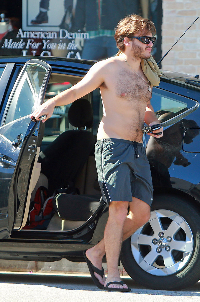 Emile Hirsch Sheds His Shirt For a Happy Hike