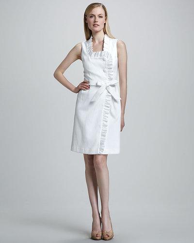 Bigio Collection Ruffle-Trim Wrap Dress