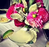 We love it when our drinks match the flowers.
