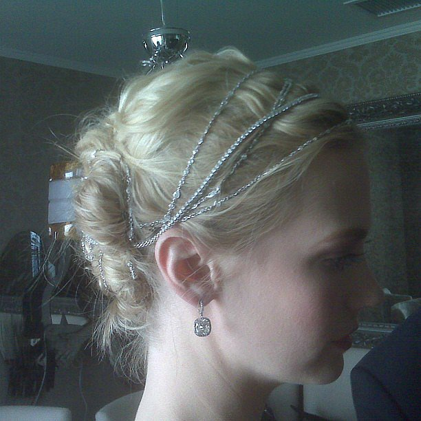 Mark Townsend showed off this Throwback Thursday of January Jones's hairstyle from the 2008 Emmys, complete with gorgeous diamonds. Source: Instagram user marktownsend1