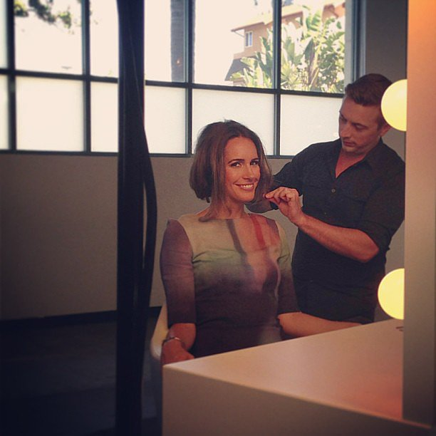 Louise Roe got a gorgeous faux-bob, courtesy of Tresemme.  Source: Instagram user tresemme