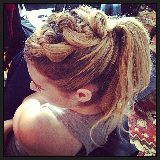 Emma Roberts showed off a totally twisted ponytail. Source: Instagram user emmaroberts6
