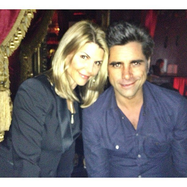 Have mercy! Lori Laughlin shared this snap while hanging out with her former Full House costar John Stamos. Source: Instagram user lorilaughlin