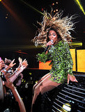 At her New York show this Summer, Mrs. Carter took a seat and let her hair run the show.