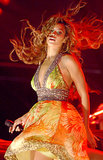 No Beyoncé set is complete without an onstage breeze. At her 2006 Toronto show, her blond locks got a lift from manmade wind.