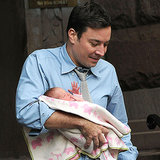 Jimmy Fallon Holding His Baby Daughter in NYC