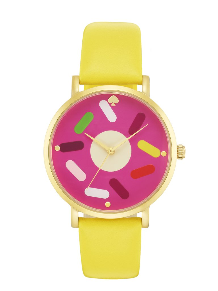 With this bright watch ($175), it's always donut time! Photo courtesy of Kate Spade New York