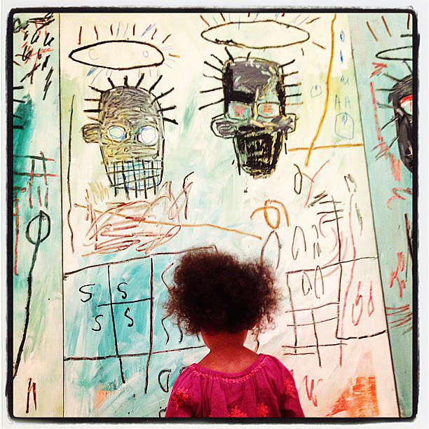 Stella Ivery took in some artwork during the week. Source: Instagram user ellenpompeo