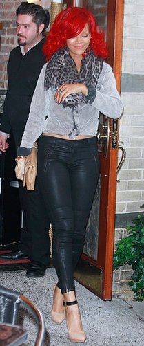 "Though leather pants and a leopard scarf may be far from ""normal,"" this 2010 NYC look was surprisingly tame for the singer."
