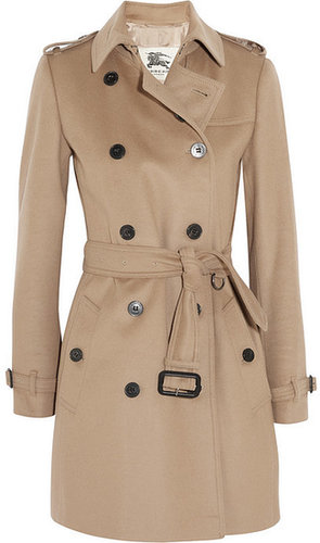 Burberry London Mid-length wool and cashmere-blend trench coat