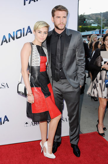 Miley Cyrus and Liam Hemsworth attended the Paranoia premiere.