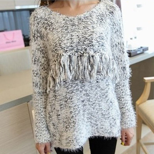 Autumn loose wool basic sweater o-neck soft sweater outerwear
