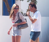 Kate Moss and her husband, Jamie Hince, went sightseeing and shopping in Spain.