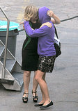 Pucker Up: Amy Poehler Plants a Wet One on Her Shy Costar