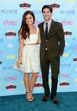 Lucy Hale and Darren Criss attended the 2013 Teen Choice Awards.