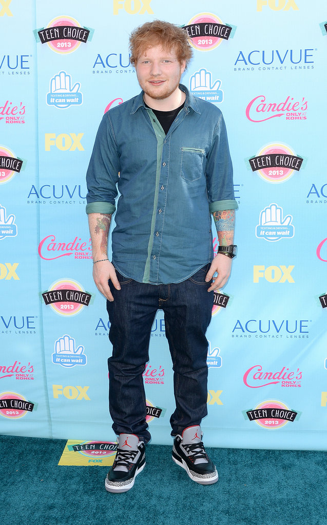 Ed Sheeran attended the 2013 Teen Choice Awards.