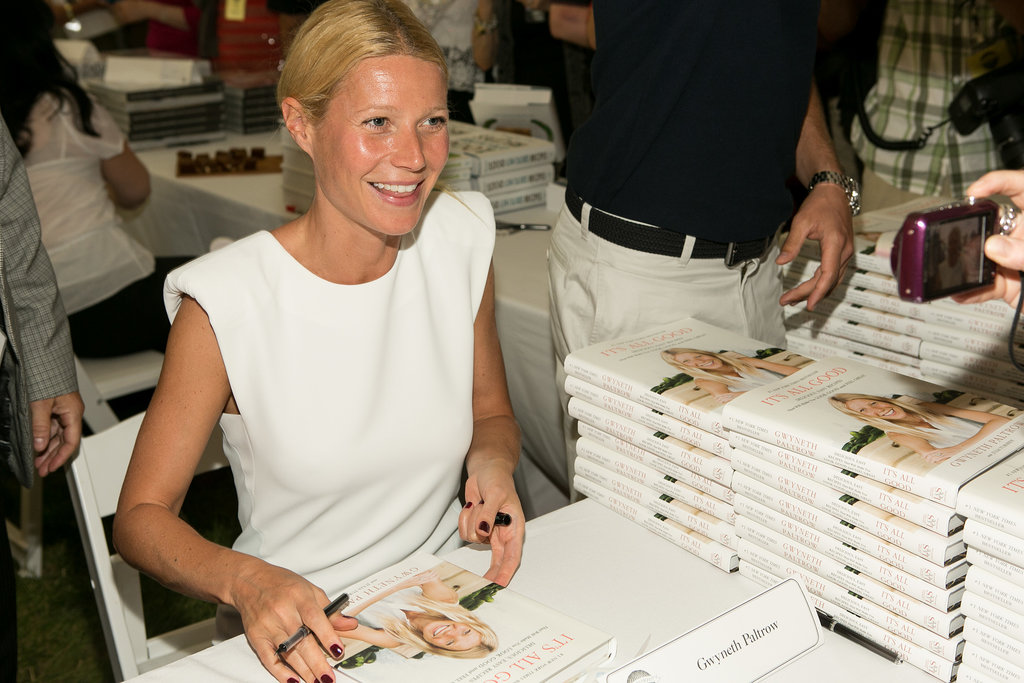 Gwyneth Paltrow signed copies of her book.