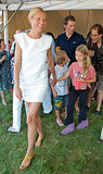 Gwyneth Paltrow walked with her children, Apple and Moses.