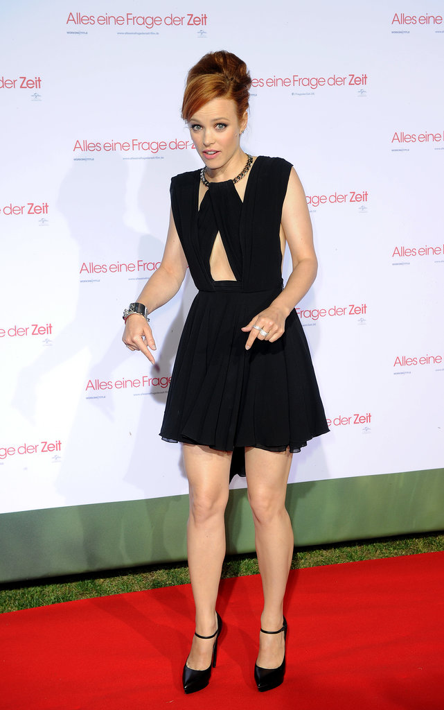 Rachel McAdams joked around on the red carpet at the Munich screening of About Time.