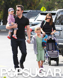 Ben Affleck and Jennifer Garner took Violet and Samuel to the farmers market in LA on Sunday.