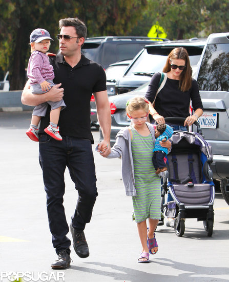 Ben Affleck and Jennifer Garner took Violet and Samuel to the farmers market in LA.