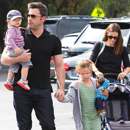 Ben Affleck and Jennifer Garner at the Market With the Kids