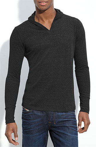 Threads for Thought Trim Fit V-Neck Hoodie Heather Black XX-Large