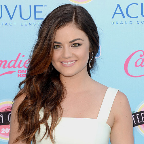 Lucy Hale Midriff and Curls at the 2013 Teen Choice Awards