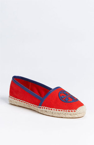 Tory Burch 'Angus' Espadrille Flat Flame Red/ Navy 10 M