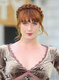 Rock star Florence Welch's fiery auburn hair matches her equally mesmerizing voice. We also love how she always accentuates her color with a braid on stage.