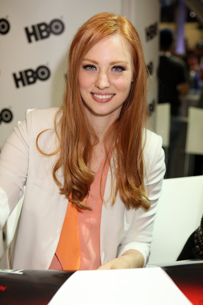 One of the newer redheads on the scene, Deborah Ann Woll of True Blood sports a flaming orange-red hue that we can't get enough of.