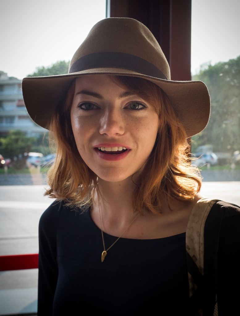 Even though Emma Stone's hair color vacillates between blond and red hair, we still consider her rusty shade one of the best. She admits that even though she is naturally a blonde, she feels most comfortable as a redhead.