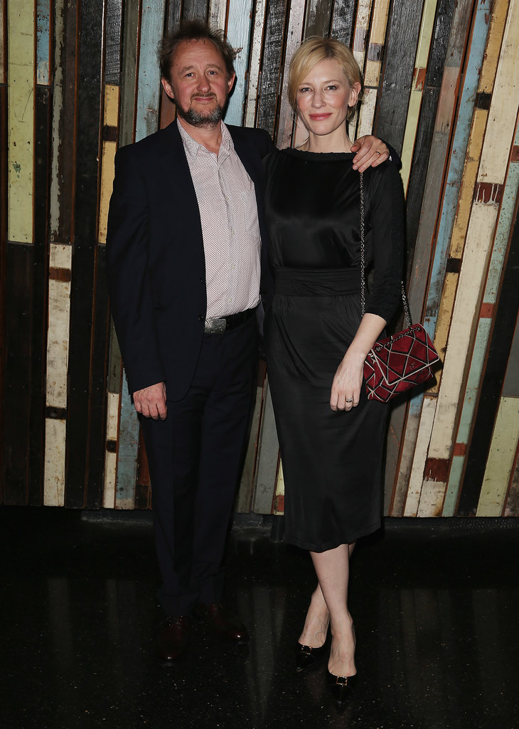 Cate Blanchett set off her LBD with a geometric Roger Vivier bag.