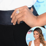 Shay Mitchell also opted for a demure manicure, going for a pastel salmon hue.