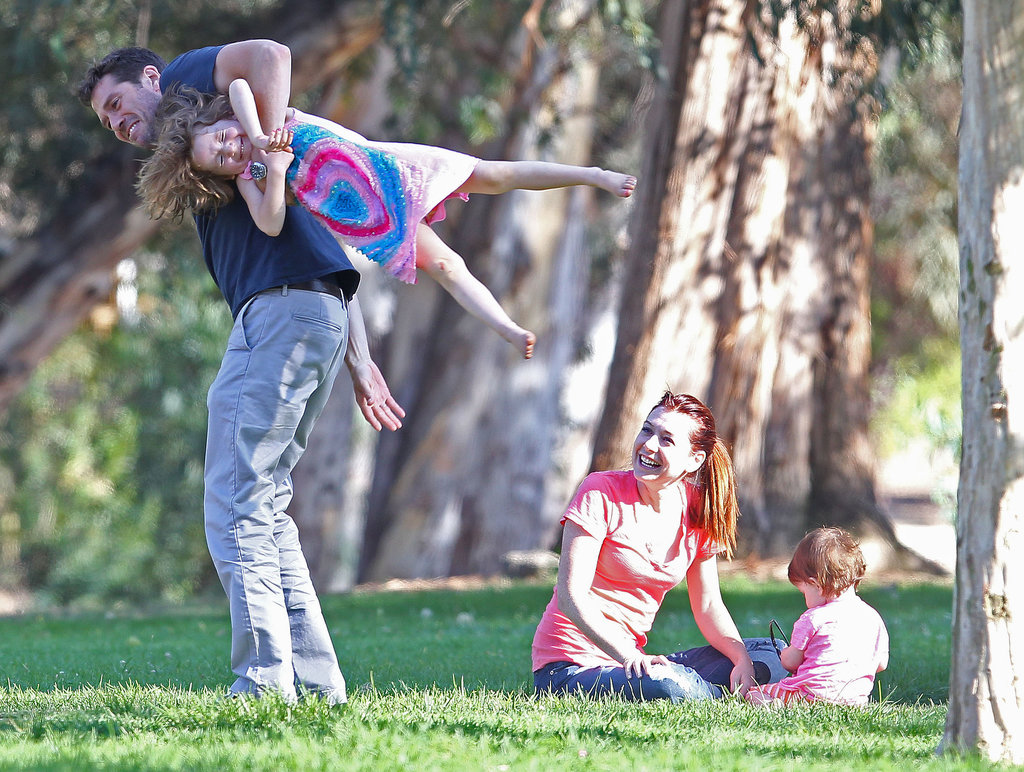 Alyson Hannigan and her husband, Alexis Denisof, visited an LA park with their girls, Keeva and Satyana.