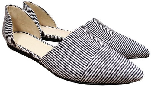 Jenni Kayne Denim Stripe D'Orsay Flat