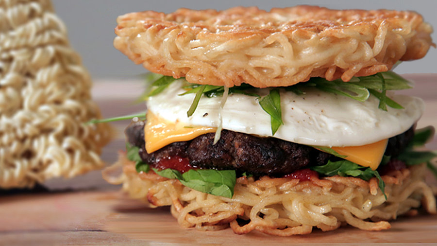 Homemade Ramen Burger