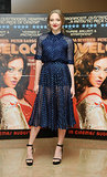 In Gucci's sheer dress, Amanda Seyfried screened Lovelace at London's Mayfair Hotel.