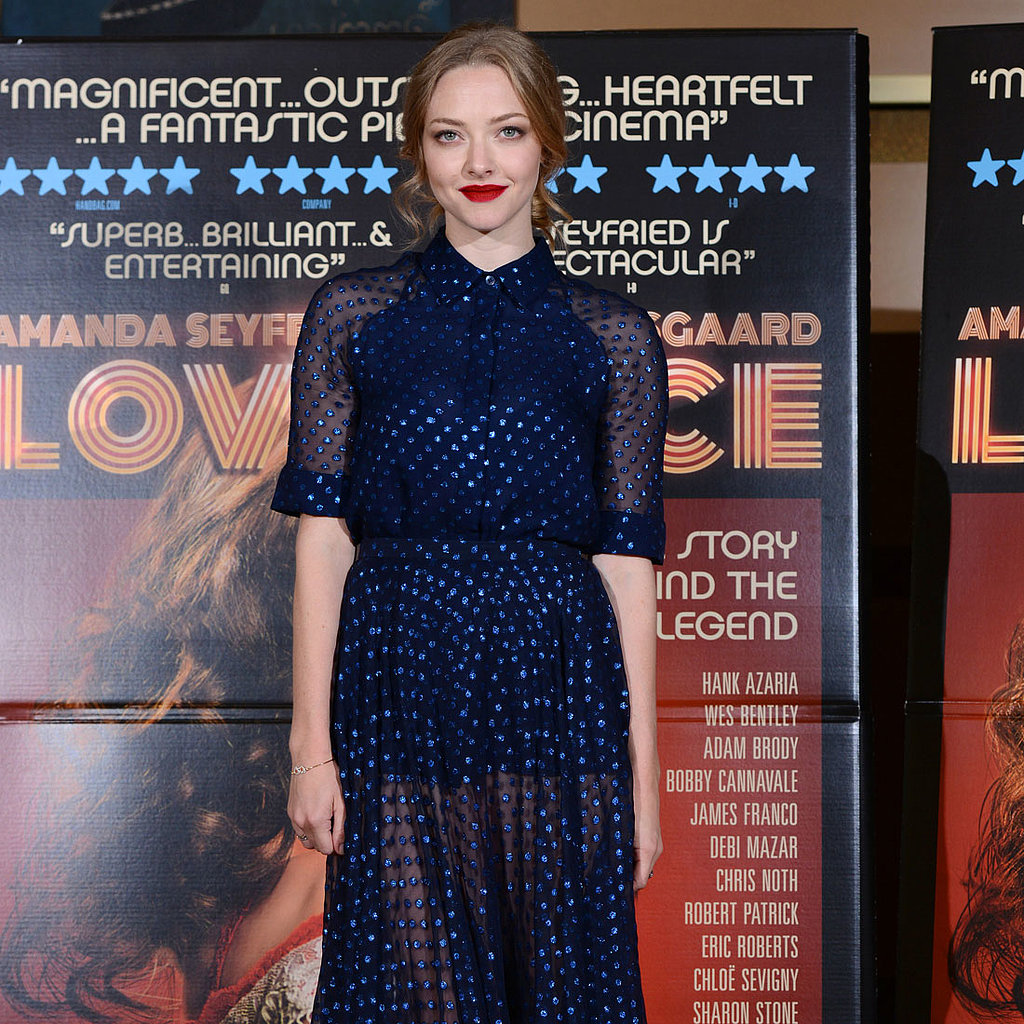 Amanda Seyfried Channels the '70s For Lovelace in London